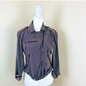 🌹Bar III Sz S Cropped Zip Up Jacket  Taupe Brown